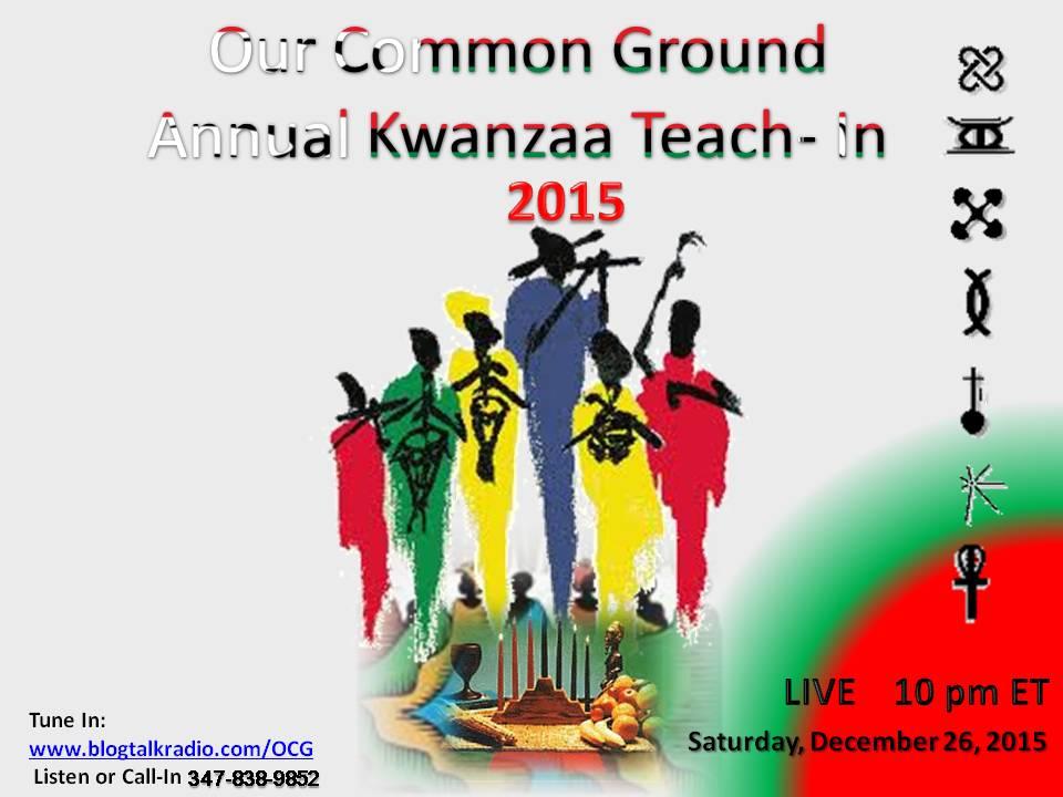 Kwanzaa 2015 teach in
