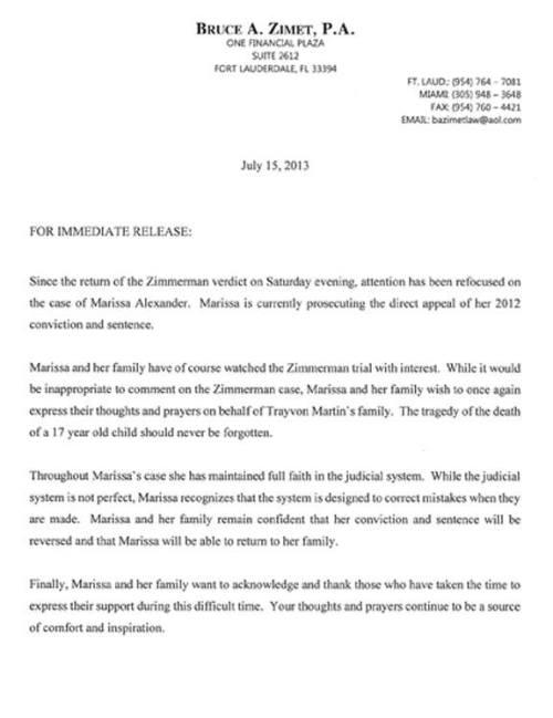 marissa attorney letter